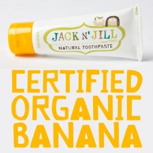 【特价】4支装 包邮!Jack N'Jill儿童专业天然牙膏香蕉味