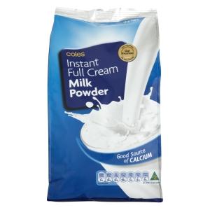 3袋包邮!Coles成年人全(脱)脂营养奶粉(订单备注发全脂还是脱脂)