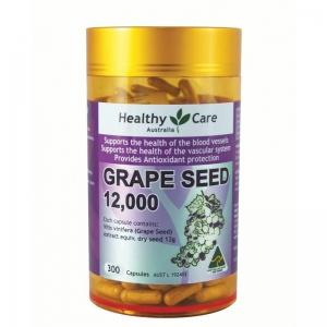 【特价】4瓶装 包邮!Healthy Care 葡萄籽精华 300粒(保质期至2019/03)