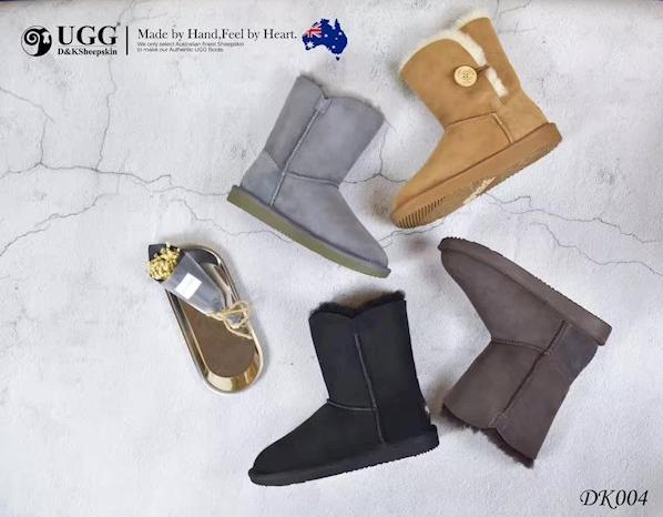 DK UGG DK004 防泼水单木扣中筒雪地靴