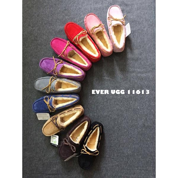 EVER 11613 素色带毛豆豆鞋