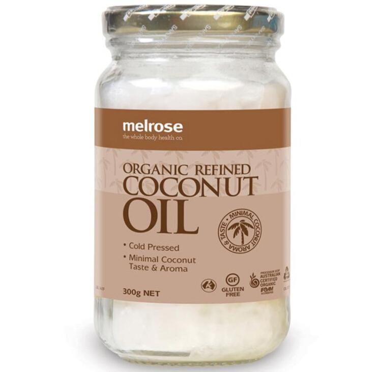 【特价】4瓶装 包邮!Melrose 有机冷压精炼天然椰子油 300g(精炼无味)