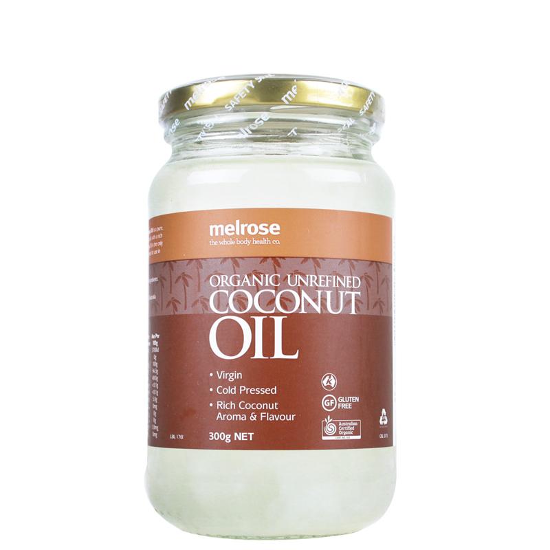 【特价】4瓶装 包邮!Melrose 天然有机非提炼椰子油 300g