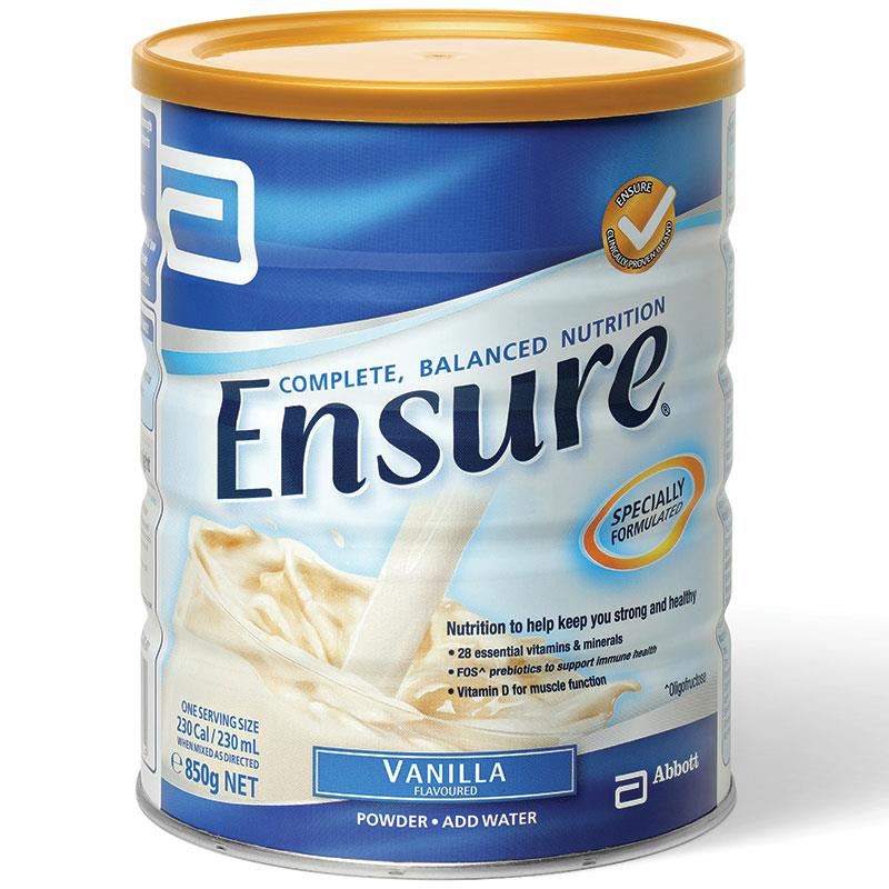 3罐包邮!Ensure 雅培安素成人高蛋白营养奶粉 850g