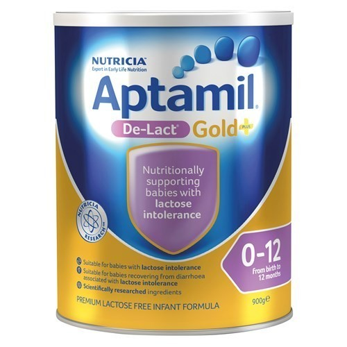 3罐包邮! Aptamil De-Lact Gold+ 爱他美 无乳糖 防乳糖不耐 0-12个月  900克
