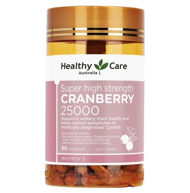 【特价】4瓶装 包邮!Healthy Care 高浓度蔓越莓胶囊 25000mg