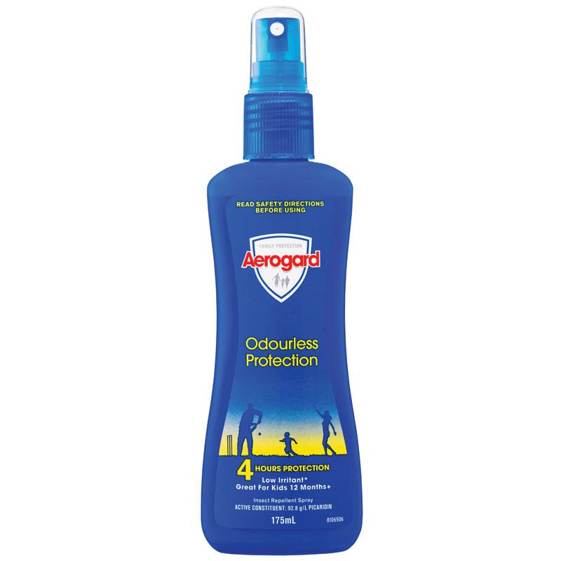 【特价】4瓶装 包邮!Aerogard防蚊虫低刺激喷雾型驱蚊液儿童可用175ml
