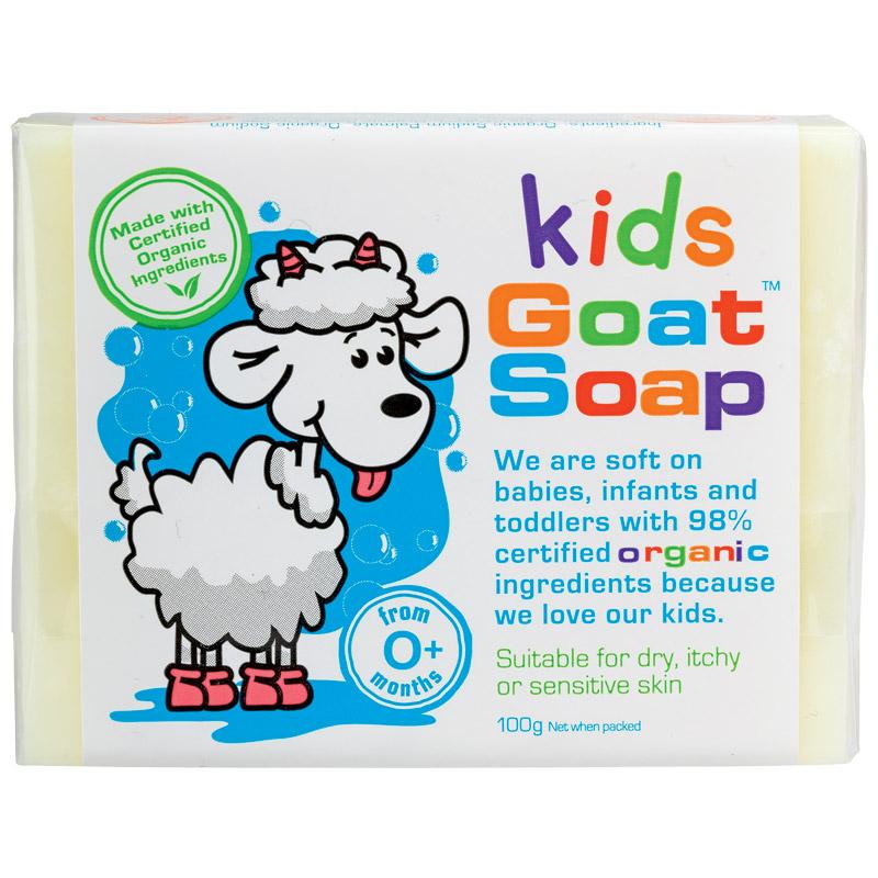 【特价】4块装 包邮!Goat Soap Kids 纯天然手工羊奶皂 儿童专用 -100克