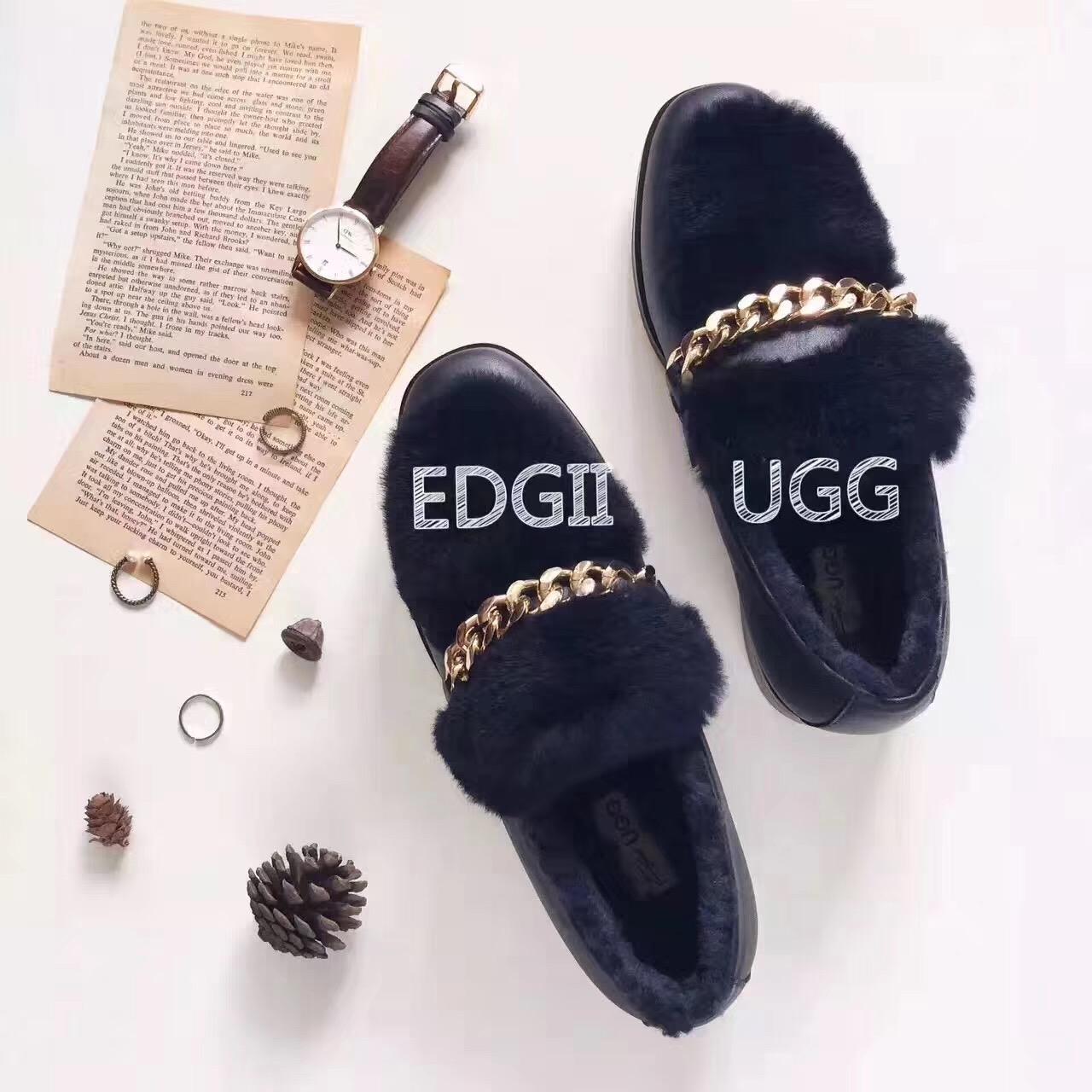 Edgii Vincu 链条时尚豆豆鞋 EDF0003