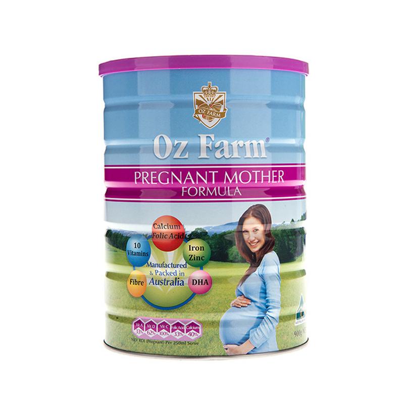 3罐包邮!Oz Farm孕妇孕期哺乳期营养含叶酸多维配方奶粉900g