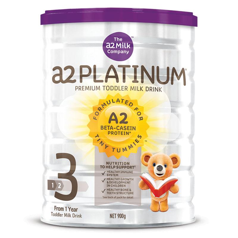 3罐包邮!A2 Platinum白金系列高端婴儿奶粉3段