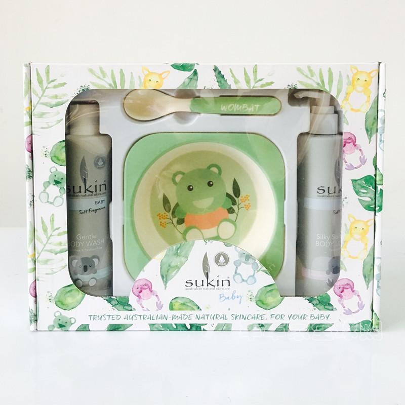 【特价】任选5个包邮!Sukin婴儿限量洗护套装(绿色)(保质期至2019/02)