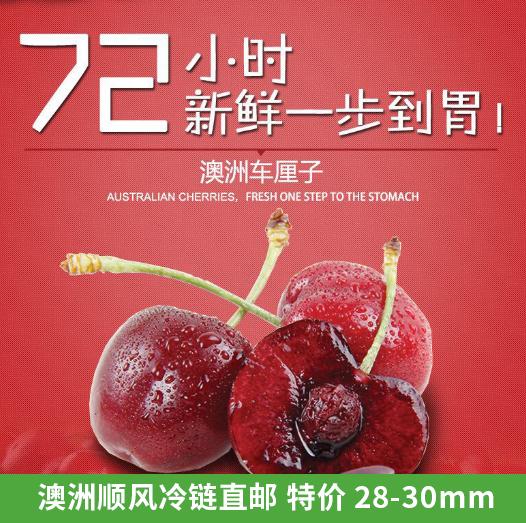 fruit grove 澳洲车厘子4斤直径 28-30mm( 顺风冷链 直邮 )
