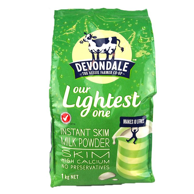 3袋包邮!Devondale德运高钙速溶脱脂奶粉 1kg