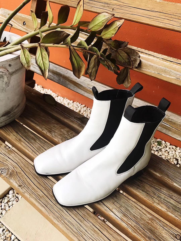 拼团!Edgii 极简风 白色羊毛靴 EDF0022